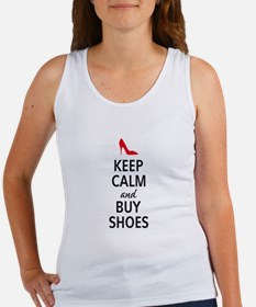 Keep calm and buy shoes Tank Top