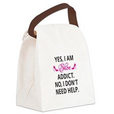 Yes, I am shoe addict Canvas Lunch Bag