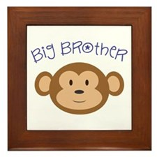 Big Brother Monkey Framed Tile