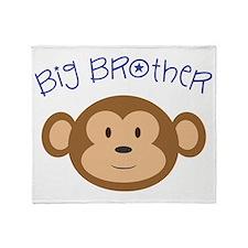 Big Brother Monkey Throw Blanket