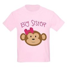 Big Sister Monkey Kids T-Shirt
