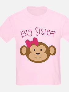 Big Sister Monkey Kids T-Shirt