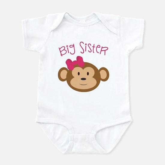 Big Sister Monkey Infant Body Suit