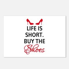 Life is short. Buy the shoes. Postcards (Package o