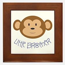 Little Brother Monkey Framed Tile