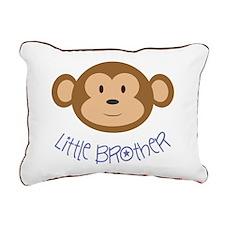 Little Brother Monkey Rectangular Canvas Pillow