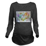 Community Hearts Col Long Sleeve Maternity T-Shirt