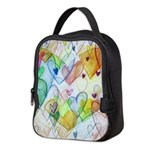 Community Hearts Color Neoprene Lunch Bag