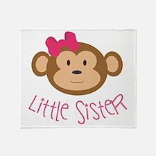 Little Sister Monkey Throw Blanket