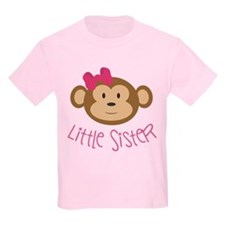 Little Sister Monkey Kids T-Shirt