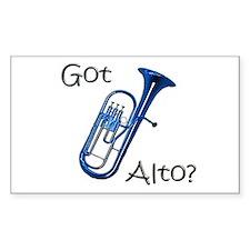 Got Alto? Rectangle Decal