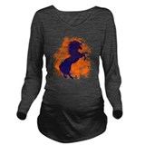 Denver bronco Dark Long Sleeve Maternity T-Shirt