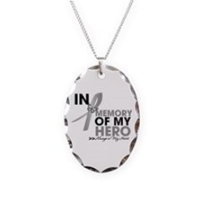 Diabetes In Memory Necklace Oval Charm