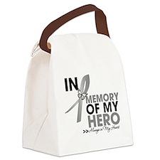 Diabetes In Memory Canvas Lunch Bag