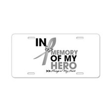 Diabetes In Memory Aluminum License Plate