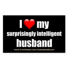 """Love My Surprisingly Intelligent Husband"" Decal"