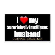 """Love My Surprisingly Intelligent Husband"" Rectang"