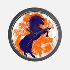 Denver Bucking Broncos Horse Wall Clock
