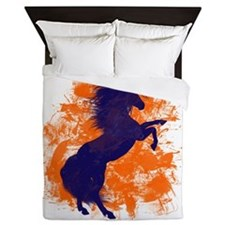 Denver Bucking Broncos Horse Queen Duvet