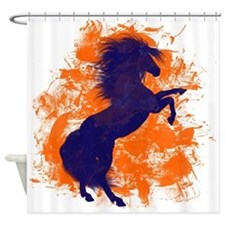 Denver Bucking Broncos Horse Shower Curtain