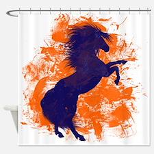 Denver Bucking Broncos Horse Shower Curtain