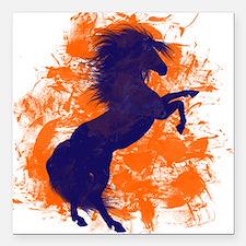 """Denver Bucking Broncos Horse Square Car Magnet 3"""""""