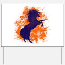 Denver Bucking Broncos Horse Yard Sign