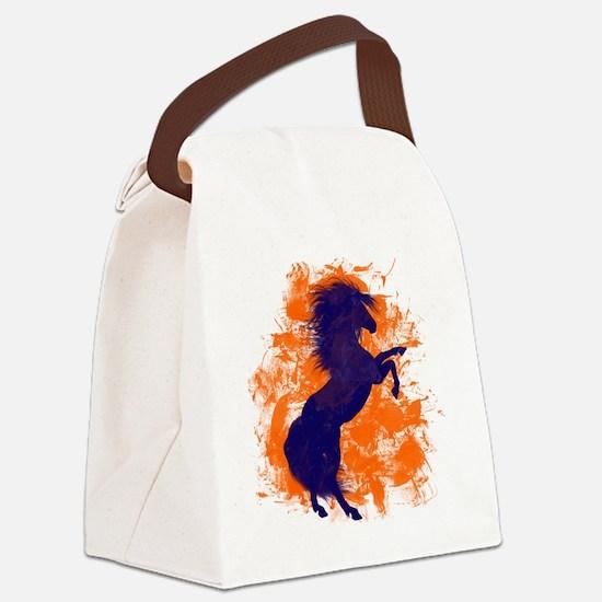 Denver Bucking Broncos Horse Canvas Lunch Bag