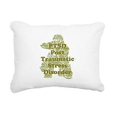 PTSD Rectangular Canvas Pillow