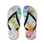 Community Hearts Color Flip Flops