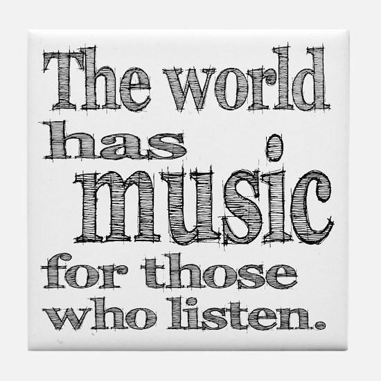 The World has Music Tile Coaster