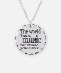 The World has Music Necklace