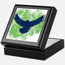 Seattle Soaring Sea Hawk Birds Keepsake Box