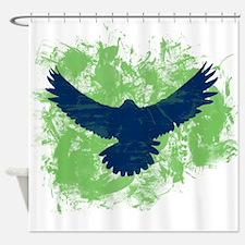 Seattle Soaring Sea Hawk Birds Shower Curtain