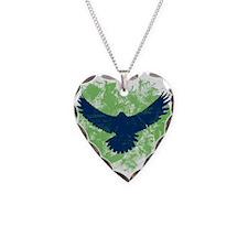 Seattle Soaring Sea Hawk Birds Necklace