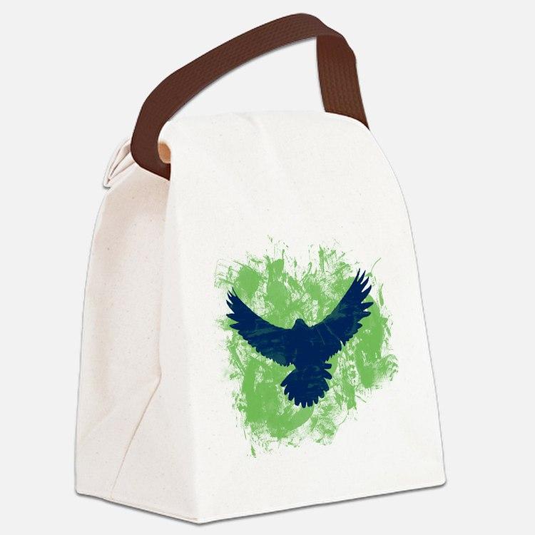 Seattle Soaring Sea Hawk Birds Canvas Lunch Bag
