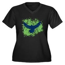 Seattle Soaring Sea Hawk Birds Plus Size T-Shirt