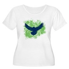 Seattle Soaring Sea Hawk Birds Plus Size T-Shirt