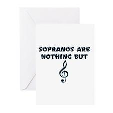Sopranos are Treble Greeting Cards (Pk of 10)