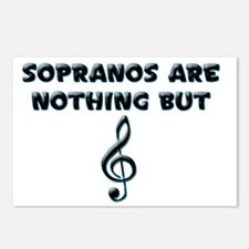 Sopranos are Treble Postcards (Package of 8)