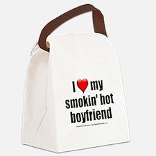"""""""Love My Smokin' Hot Boyfriend"""" Canvas Lunch Bag"""