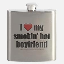 """Love My Smokin' Hot Boyfriend"" Flask"