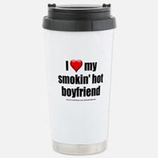 """Love My Smokin' Hot Boyfriend"" Stainless Steel Tr"