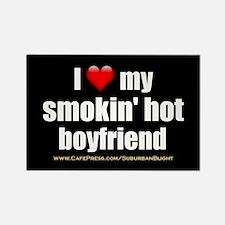 """Love My Smokin' Hot Boyfriend"" Rectangle Magnet"
