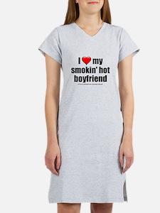 """""""Love My Smokin' Hot Boyfriend"""" Women's Nightshirt"""