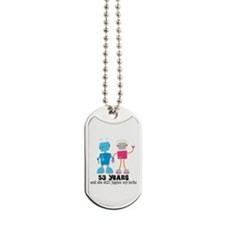 53 Year Anniversary Robot Couple Dog Tags