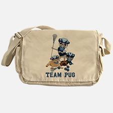 team pug lacrosse ts and Messenger Bag