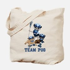 team pug lacrosse ts and Tote Bag