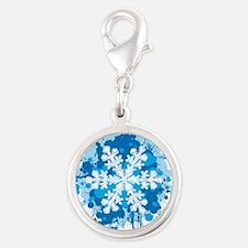 Snowflake Splatter Charms