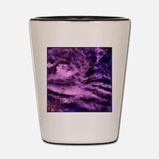 purple clouds Shot Glass